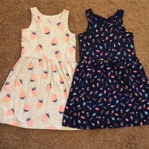 Carters strawberry and ice cream dresses